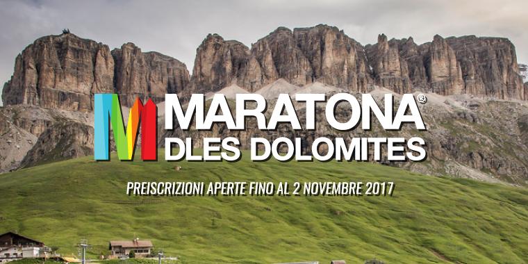 Preiscrizione Maratona delle Dolomiti presso Nuova Corti 2017