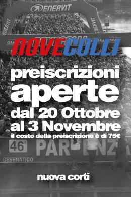 Nove Colli, Preiscrizione, Granfondo, Nuova Corti, Sassuolo, Specialized, BMC, Bici da Corsa