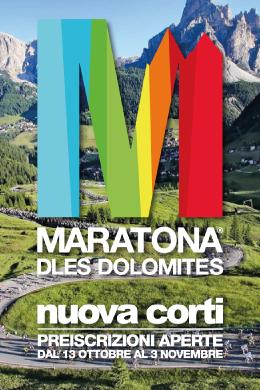 Maratona dles dolomites, maratona delle dolomiti, nuova corti, preiscrizioe