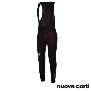 Castelli, Nuova Corti, meno2 bibtight, ciclismo, abbigliamento, bici da corsa, mtb, Windstopper, Rosso Corsa