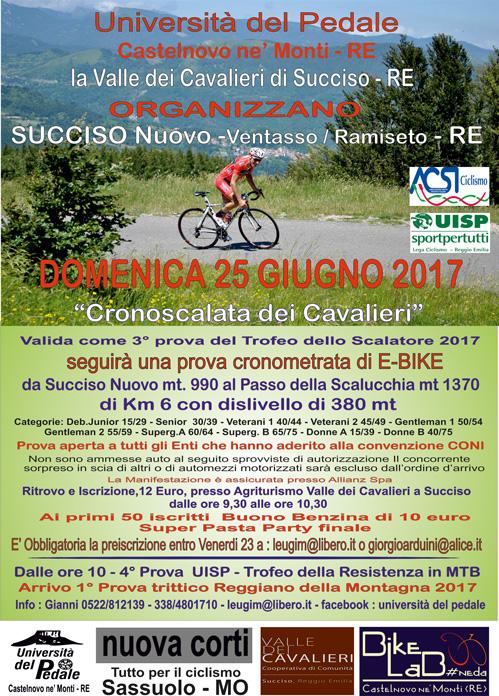 Cronoscalata dei Cavalieri, 25 Giugno 2017, Reggio Emilia, Nuova Corti