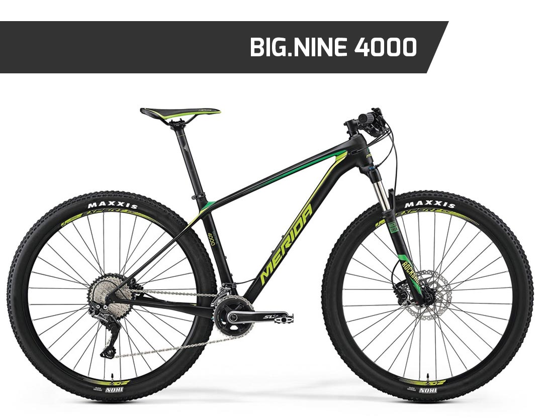 big.nine 4000, mtb, mountain bike, merida, front, ht, hardtail, nuovacorti, milkywayshop, vendita mtb online