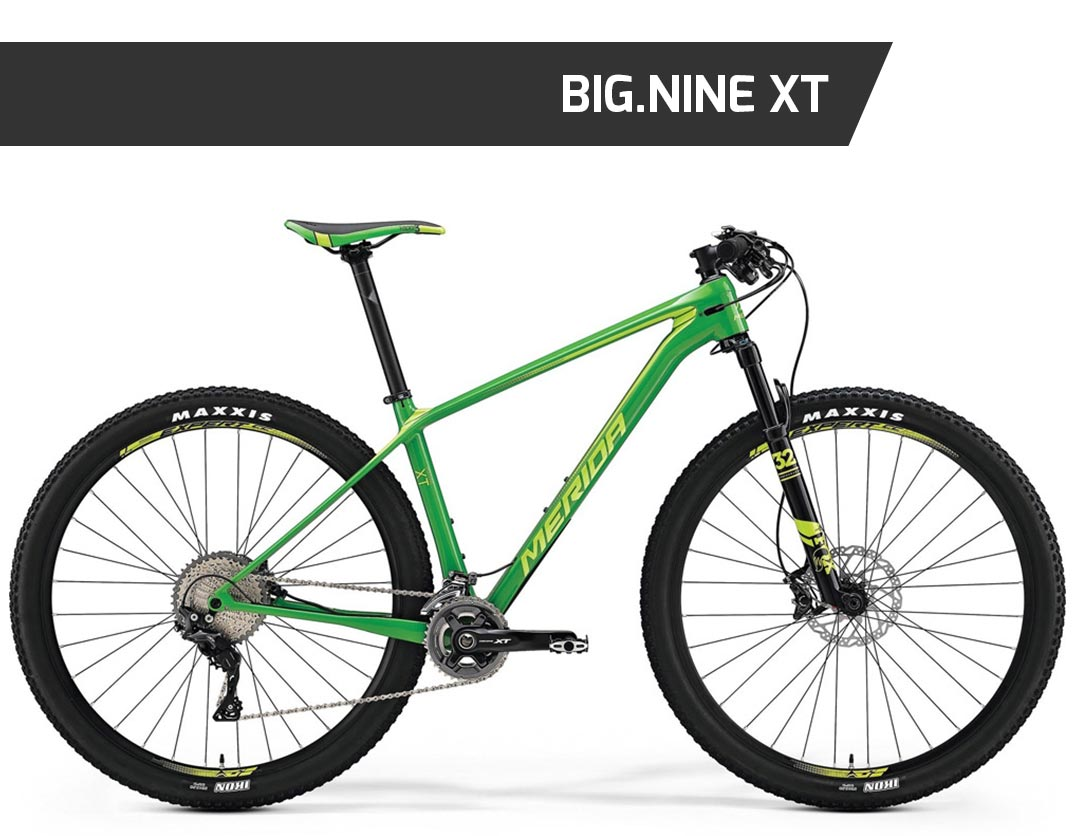 big.nine xt, mtb, mountain bike, merida, front, ht, hardtail, nuovacorti, milkywayshop, vendita mtb online